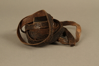 1995.60.3 left side Hand tefillin worn by a Polish Jewish man in the Warsaw ghetto and in hiding  Click to enlarge