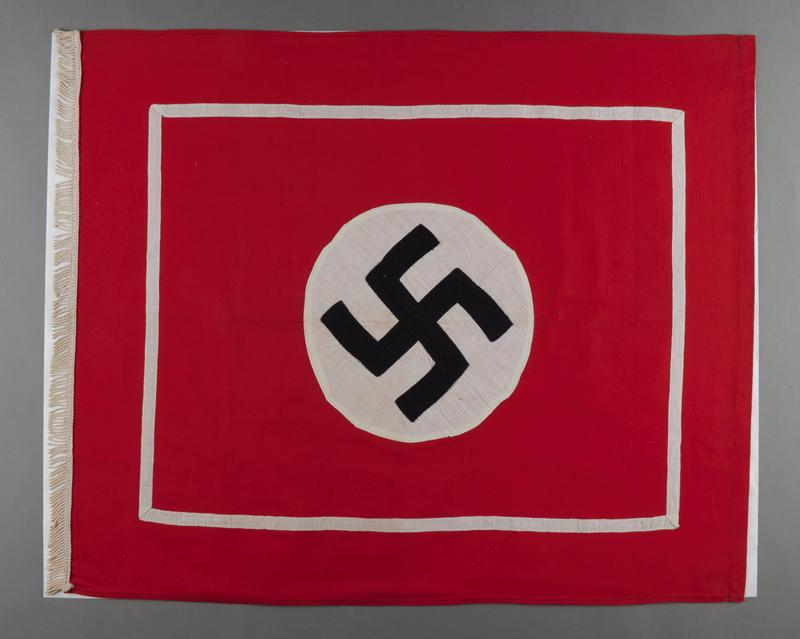 1995.62.1 front Nazi fringed banner