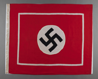 1995.62.1 front Nazi fringed banner  Click to enlarge