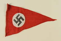 1995.62.2 front Nazi pennant  Click to enlarge
