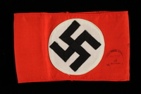 "1995.62.5 front NSDAP ""Kampfbinde"" armband worn by party members  Click to enlarge"