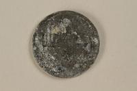1995.69.1 back Łódź (Litzmannstadt) ghetto scrip, 5 mark coin  Click to enlarge