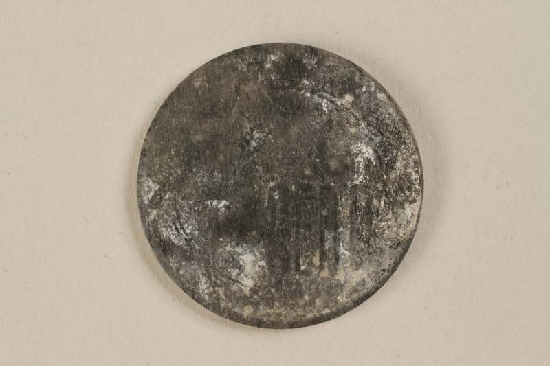 1995.69.2 front Łódź (Litzmannstadt) ghetto scrip, 10 mark coin