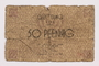 Łódź ghetto scrip, 50 pfennig note