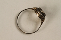 1995.72.1 side Gold ring taken by a Jewish youth when he escaped Treblinka death camp  Click to enlarge