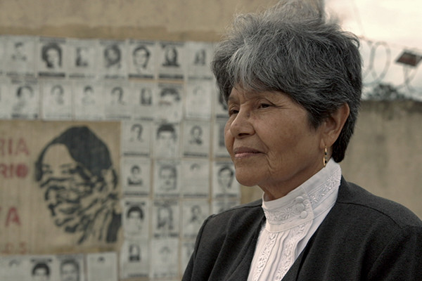 Aura Elena Farfán is the executive director of Famdegua, an organization of victims' families. <i>Photo by Michael Parry. Photo courtesy of FilmRise</i>