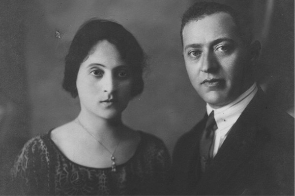 An engagement photo of Allegra and Calef Elias taken in Kastoria, circa 1918. <i>Courtesy of Lena and Maurice Russo</i>