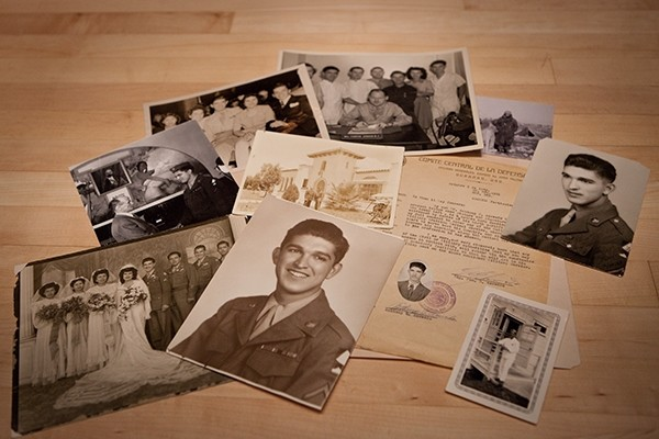 Artifacts donated to the Museum by Anthony Acevedo, a medic with the US Army's 70th Infantry Division during World War II. <i>US Holocaust Memorial Museum</i>