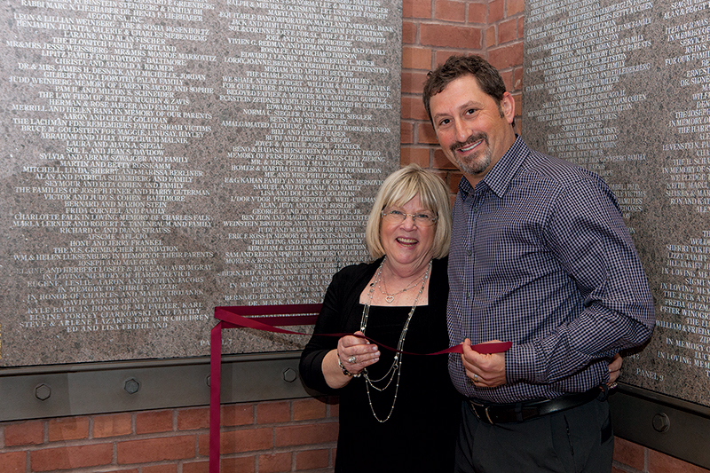 Teacher Joyce Witt learns that her nephew, Eddie Leshin, has honored her  with an inscription on the Museum's donor wall. He had invited his aunt to  ...